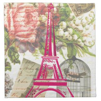 Torre Eiffel del vintage Servilleta
