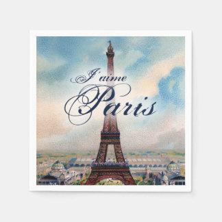 Torre Eiffel del vintage Servilleta Desechable