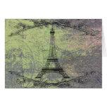 Torre Eiffel del vintage Tarjeta