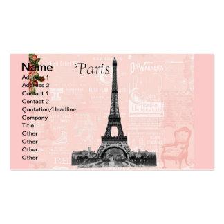 Torre Eiffel del vintage Tarjetas De Negocios