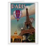 Torre Eiffel del vintage Tarjeta De Felicitación