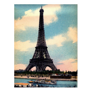 Torre Eiffel del vintage Tarjetas Postales