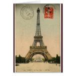 Torre Eiffel del vintage Tarjetas