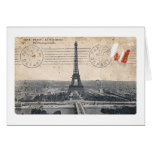Torre Eiffel del vintage Tarjeton