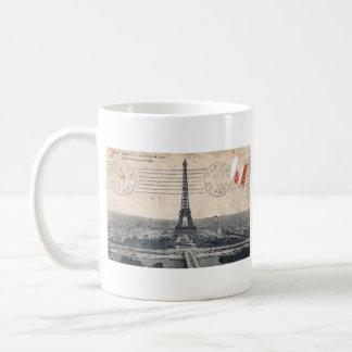Torre Eiffel del vintage Taza De Café