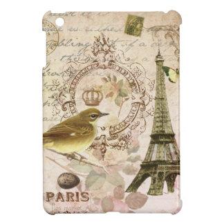 Torre Eiffel del vintage y mini caso del ipad del