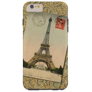 Torre Eiffel elegante Francia de París del vintage Funda De iPhone 6 Plus Tough