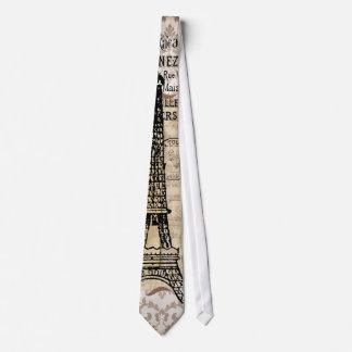 Torre Eiffel elegante lamentable del vintage de Corbata
