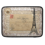 Torre Eiffel elegante lamentable del vintage de Funda Para Macbook Pro