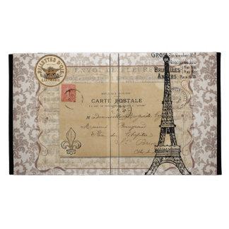 Torre Eiffel elegante lamentable del vintage de Pa