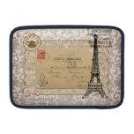 Torre Eiffel elegante lamentable del vintage de Pa Fundas Para Macbook Air
