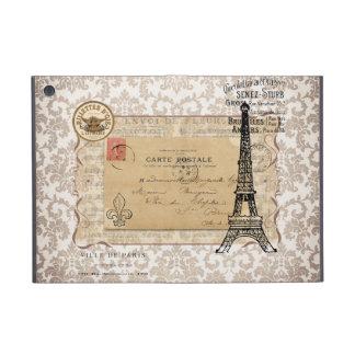 Torre Eiffel elegante lamentable del vintage de Pa iPad Mini Fundas