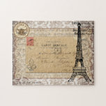 Torre Eiffel elegante lamentable del vintage de Pa Puzzles