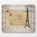 Torre Eiffel elegante lamentable del vintage de Pa Tapetes De Raton