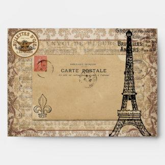 Torre Eiffel elegante lamentable del vintage de