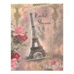 Torre Eiffel elegante lamentable y ducha nupcial d Invitación