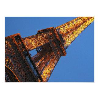 Torre Eiffel en el cielo Invitación 13,9 X 19,0 Cm