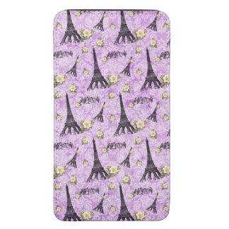 Torre Eiffel en el damasco púrpura Bolsillo Para Galaxy S5