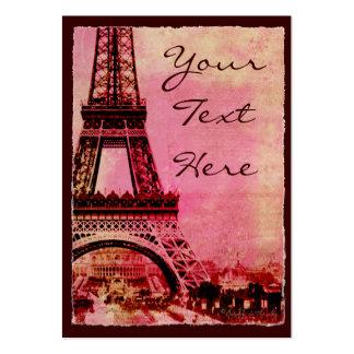 Torre Eiffel en el estilo #2 del vintage de la pue Plantillas De Tarjeta De Negocio