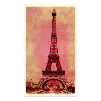 Torre Eiffel en el estilo #3 del vintage de la pue Tarjeta De Visita