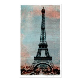 Torre Eiffel en el estilo #3 del vintage de la sal Tarjetas De Negocios
