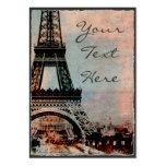 Torre Eiffel en el estilo del vintage de la salida Tarjeta De Visita