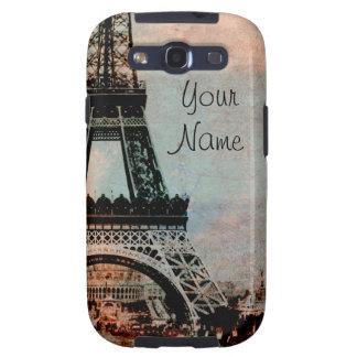 Torre Eiffel en la caja androide del teléfono celu Galaxy SIII Carcasas