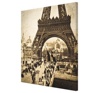 Torre Eiffel en la exposición Universelle 1900 Impresión En Tela