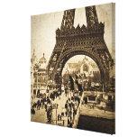 Torre Eiffel en la exposición Universelle 1900 Impresion En Lona