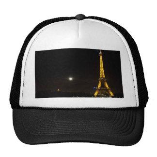 Torre Eiffel en la noche Gorros Bordados