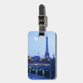 Torre Eiffel en la oscuridad Etiquetas Bolsas
