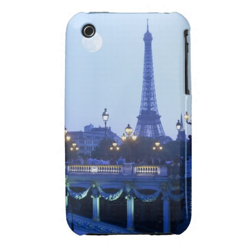 Torre Eiffel en la oscuridad Funda Para iPhone 3 De Case-Mate