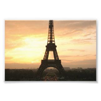 Torre Eiffel en la salida del sol del Trocadero Cojinete