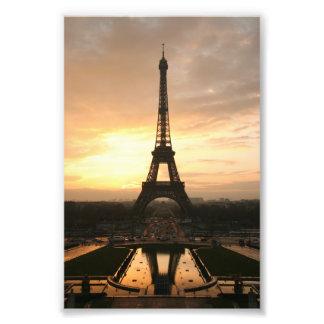 Torre Eiffel en la salida del sol del Trocadero Fotografía
