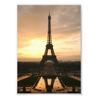 Torre Eiffel en la salida del sol del Trocadero Fotografías