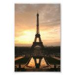 Torre Eiffel en la salida del sol del Trocadero Fotos