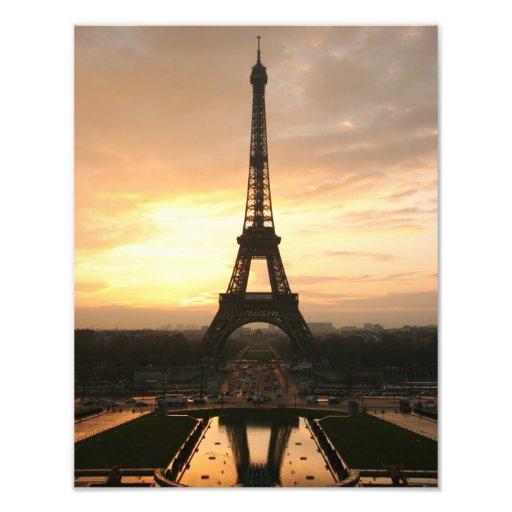 Torre Eiffel en la salida del sol del Trocadero Arte Con Fotos