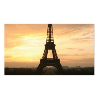 Torre Eiffel en la salida del sol del Trocadero Tarjetas De Visita