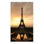 Torre Eiffel en la salida del sol del Trocadero Plantillas De Tarjetas De Visita
