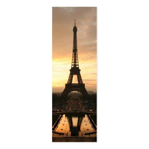 Torre Eiffel en la salida del sol del Trocadero Plantillas De Tarjetas Personales