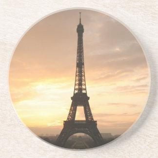Torre Eiffel en la salida del sol Posavasos Manualidades