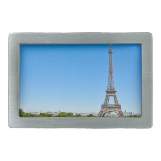 Torre Eiffel en París, Francia Hebillas Cinturón Rectangulares