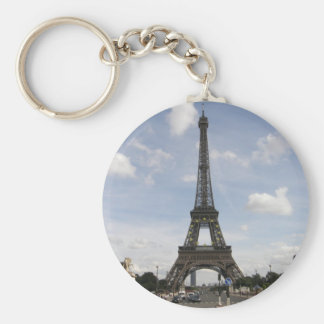 Torre Eiffel en París Llavero Redondo Tipo Pin