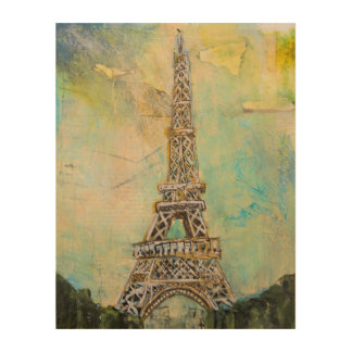 Torre Eiffel en técnicas mixtas Cuadros De Madera