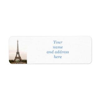 Torre Eiffel Etiqueta De Remitente