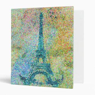 """Torre Eiffel femenina de moda hermosa del vintage Carpeta 1"""""""