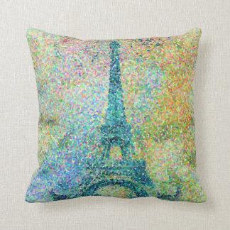 Torre Eiffel femenina de moda hermosa del vintage Cojín