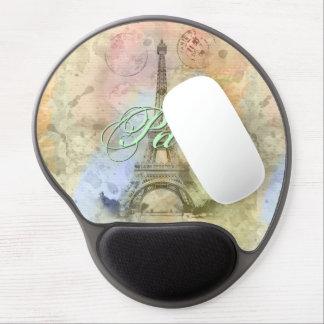Torre Eiffel femenina de moda hermosa Francia del Alfombrillas De Ratón Con Gel
