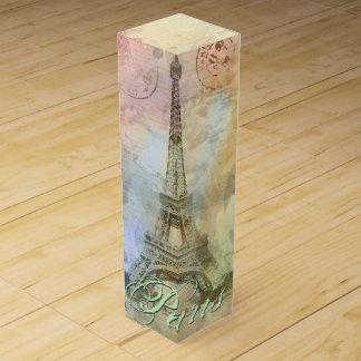 Torre Eiffel femenina de moda hermosa Francia del Cajas De Vino