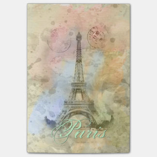 Torre Eiffel femenina de moda hermosa Francia del  Nota Post-it